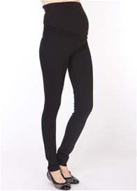 Seraphine - Over Bump Ponte Trousers in Black