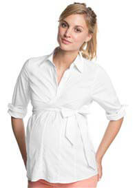 Esprit - Collared Work Shirt in White