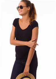 Pomkin - Milkizzy Lise Nursing Top in Black
