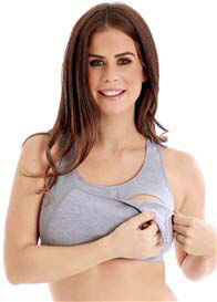 La Leche League - Nursing Sports Bra in Grey