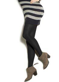 Preggers - Mild Compression Maternity Tights in Black