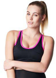 Noppies - Robijn Active Sports Bra in Black/Pink - ON SALE