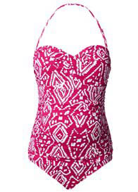 Noppies - Ikat One-Piece Swimsuit in Pink Print