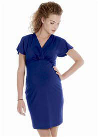 Queen mum - Flutter Sleeve Dress in Blue