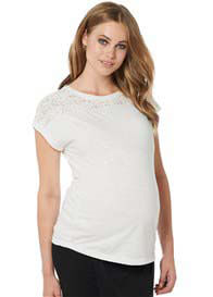 Noppies - Dani Lace Insert Top in Off-White