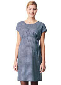 Esprit - Lightweight Viscose Dress in Navy Print