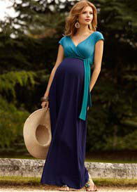 Tiffany Rose - Jewel Block Maxi Dress in Biscay Blue