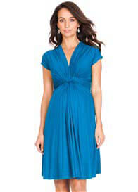 Seraphine - Seaside Blue Knot Front Dress