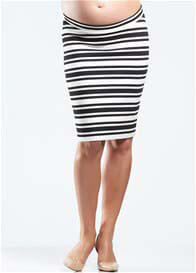 Soon Maternity - Black & White Striped Skirt - ON SALE
