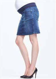 Soon Maternity - Vintage Blue Wash Denim Skirt