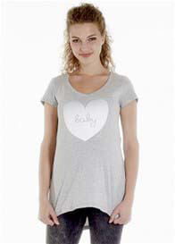 Queen mum - Baby Love T-shirt in Grey
