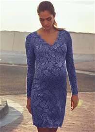 Queen mum - Beautiful Lace Evening Dress in Blue