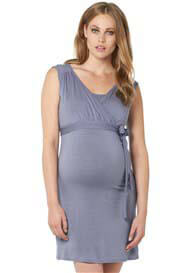 Noppies - Lara Nursing Dress in Lavender Grey