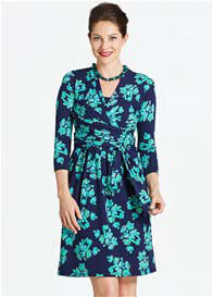 Milky Way - Theory Nursing Dress in Blue Floral
