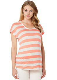 Noppies - Cissy T-Shirt in Peach Stripe