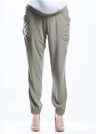 Soon Maternity - Lightweight Relaxed Pants in Khaki