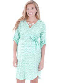Everly Grey - Hudson Dress in Mint Ikat