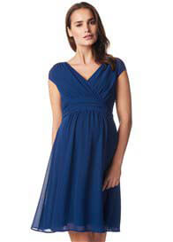 Noppies - Liane Cap Sleeve Chiffon Dress in Blue