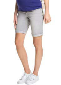 Esprit - Denim Bermuda Shorts in Grey