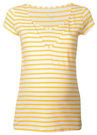 Pomkin - Milkizzy Lise Nursing Top in Yellow Stripes