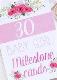 Blossom & Pear - Baby Milestone Cards in Floral