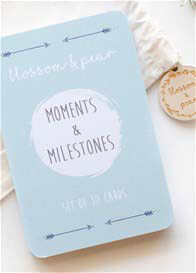 Blossom & Pear - Baby Milestone Cards in Arrow