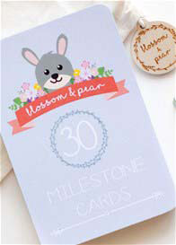 Blossom & Pear - Baby Milestone Cards in Woodland