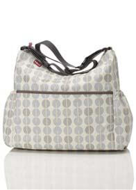 Babymel - Big Slouchy Nappy Bag in Multi Dot Grey Mist