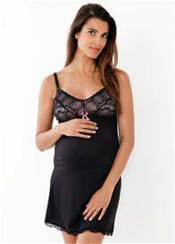 Belabumbum - Rachelle Nursing Slip Dress n Black