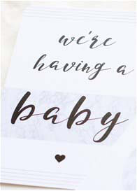 Blossom & Pear - Pregnancy Milestone Cards in Marble