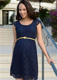 Seraphine - Pretty Lace Dress in Navy