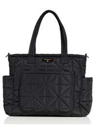 TWELVE little - Carry Love Quilted Baby Tote Bag in Black