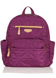 TWELVE little - Companion Quilted Nappy Change Backpack in Plum
