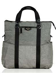 TWELVE little - Unisex 3-in-1 Foldover Diaper Tote Bag in Grey
