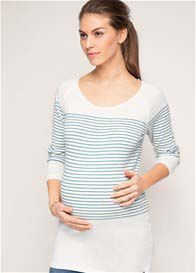 Esprit - Fine Cotton Knit Jumper in Teal Stripes - ON SALE