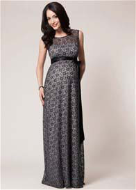 Tiffany Rose - Daisy Black/Silver Lace Evening Gown