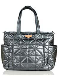 TWELVE little - Carry Love Quilted Baby Tote Bag in Pewter