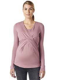 Esprit - Pleated Nursing Top in PInk