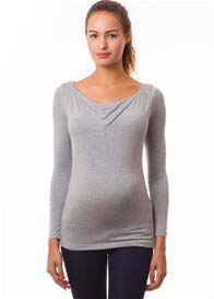 Pomkin - Milkizzy Prisca Breastfeeding Top in Grey