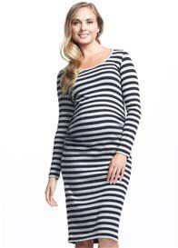 Soon Maternity - Krish Long Sleeve Stripe Dress
