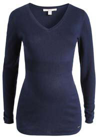Esprit - Cashmere Blend Fitted Jumper in Blue - ON SALE