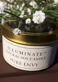 Illuminate - Soy-based Candle in Tin w Pure Envy Fragrance