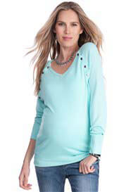 Seraphine - Shiloh Bamboo Nursing Jumper in Mint