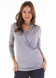 Floressa - Anabelle Nursing Top in Grey