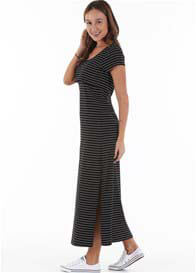 Trimester™ - Logan Side Split Nursing Maxi Dress