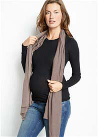 Maternal America - Soft Knit Nursing Scarf in Mocha