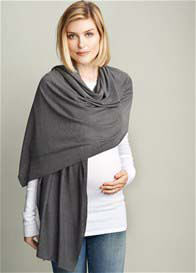 Maternal America - Soft Knit Nursing Scarf in Charcoal