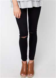 Ripe Maternity - Distressed Black Jeggings
