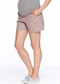 Milky Way - Panama Linen Shorts in Taupe
