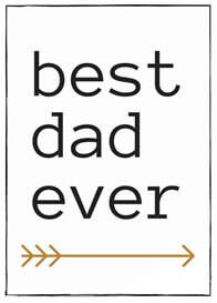 QueenBee® - Best Dad Ever Milestone Card